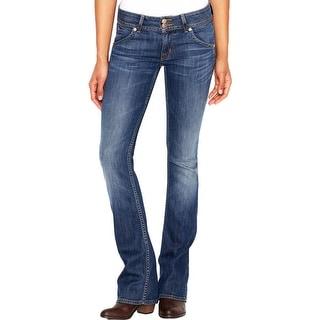 Hudson Womens Signature Bootcut Jeans Denim