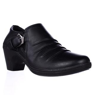 Easy Street Burnz Buckle Ankle Booties - Black