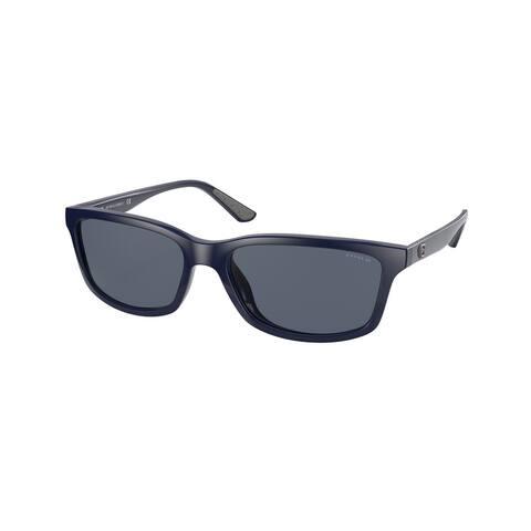 Coach HC8311U 563287 58 Navy Man Rectangle Sunglasses