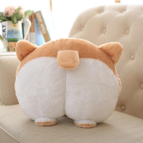 Pillow Dog Buttocks Hand Cushion Plush
