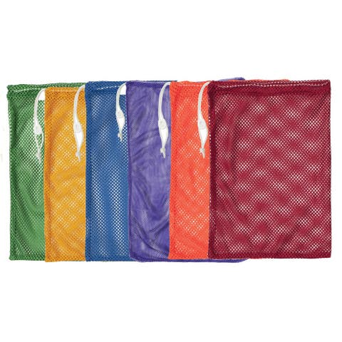 """Mesh Equipment Bag, 12"""" x 18"""", Assorted Colors, Pack of 6"""