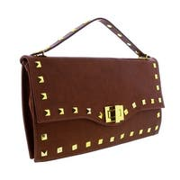HS3651 MR CIARA Brown Leather Clutch/Shoulder Bag - 17-9-2