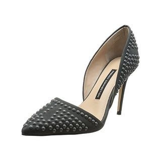 French Connection Womens Ellis D'Orsay Heels Suede Studded