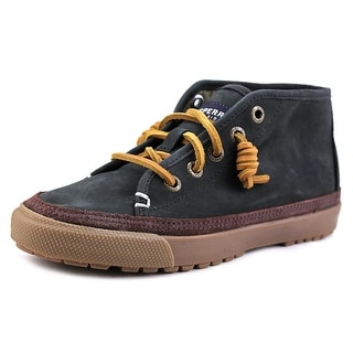 Sperry Top Sider Wynter Sea Black Moc Toe Leather Boat Shoe