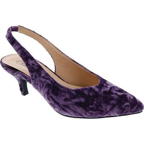 Penny Loves Kenny Women's Dashing Slingback Purple Crushed Velvet