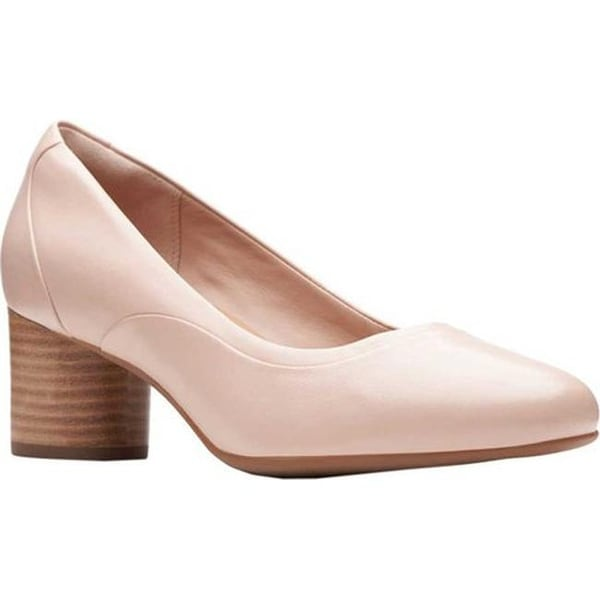 f8c39f6b44689 Shop Clarks Women's Un Cosmo Step Pump Blush Pink Leather - Free ...