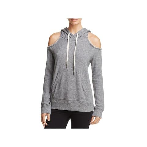 Splendid Womens Hoodie Cold Shoulder Sweatshirt - XS