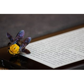 Yellow Bee Photograph Art Print