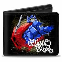 Optimus Prime Pointing Pose Tag Bi Fold Wallet - One Size Fits most