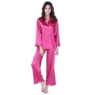 Richie House Women's Satin Two-piece Sleepwear Set