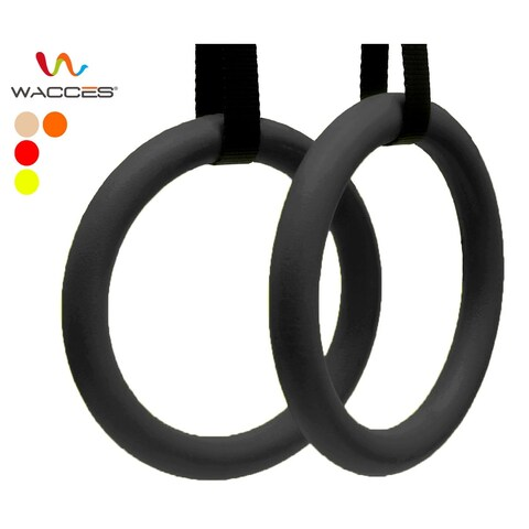 Wacces Gymnastic Rings With Straps Crossfit Strength Exercise Ring