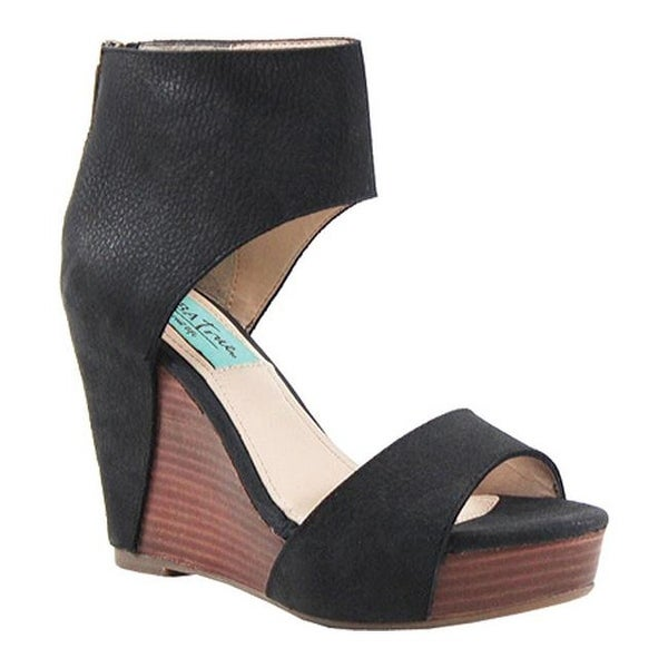 24482ab494ab Shop Diba True Women s Shimmy Down Wedge Sandal Black Leather - Free  Shipping Today - Overstock - 11712622