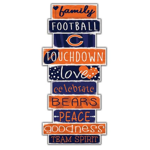 """Chicago Bears Celebrations Stack 24"""" Wood Sign - Multi"""