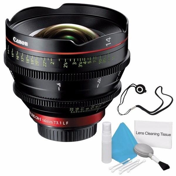 Canon CN-E 14mm T3.1 L F Cinema Prime Lens (EF Mount) (International Model) + Lens Cap Keeper Bundle