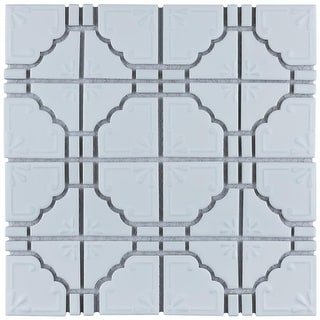 SomerTile 11.75x11.75-inch Luna Matte White Porcelain Mosaic Floor and Wall Tile (10 tiles/9.79 sqft.)