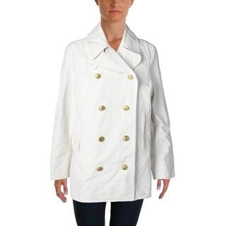 Denim & Supply Ralph Lauren Womens Pea Coat Canvas Cotton - M