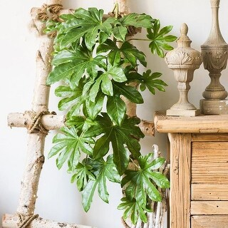 "G Home Collection Rustic Artificial Fatsia Leaf Vines 32"" Long"