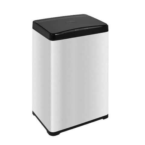 INNOVAZE Fingerprint Free Brushed Stainless Steel Rectangular Sensor Kitchen Trash Can