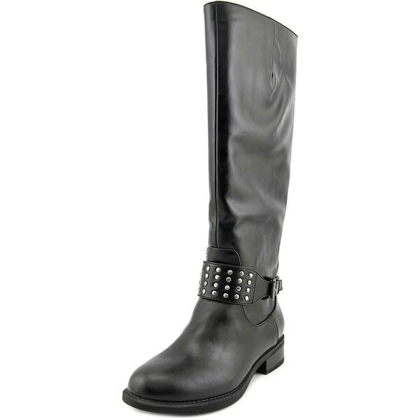 American Living Jaycee Women Round Toe Synthetic Black Knee High Boot