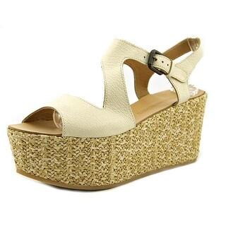 Fabbrica Morichetti 26123F0 Women Open Toe Leather Ivory Wedge Heel
