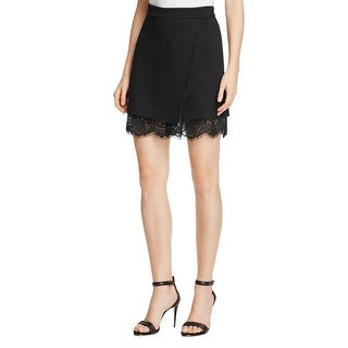 French Connection Womens Wrap Skirt Stretch Faux Wrap