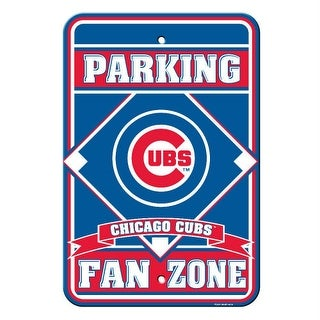 Fremont Die Inc Chicago Cubs Plastic Parking Sign Parking Sign