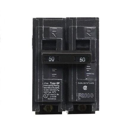 Siemens Q250 Double Pole Circuit Breaker, 50 Amp