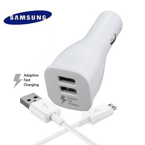 Samsung White Adaptive Fast Dual Usb Car Charger W Micro Cable Free Shipping On Orders Over 45 15297571