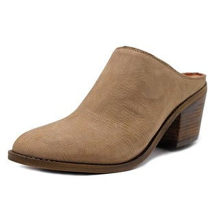 Lucky Brand Maikki Women Pointed Toe Leather Gray Mules