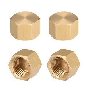 """Brass Cap, Hex Pipe Fitting 1/4""""G Female Pipe Connector 4pcs - 1/4"""" G 4pcs"""