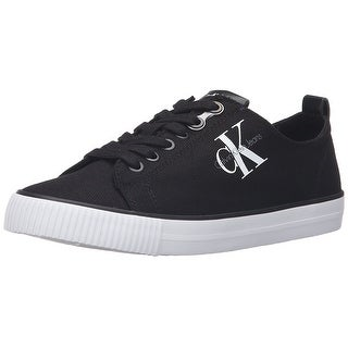 Calvin Klein Womens Dora Canvas Canvas Low Top Lace Up Fashion Sneakers