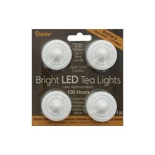 Darice Bright LED Tea Lights 4pc