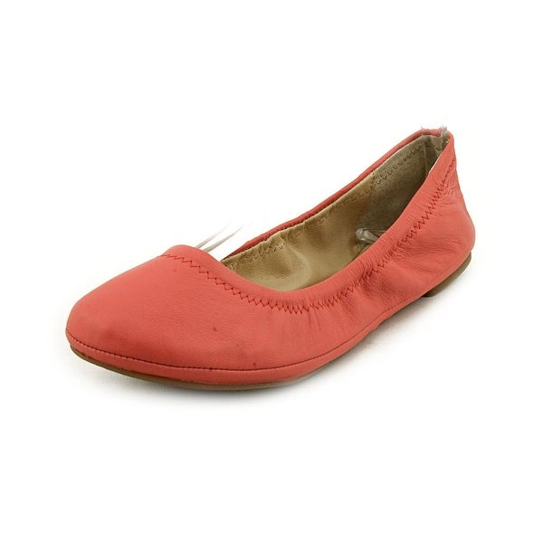 Lucky Brand Emmie Women Round Toe Leather Pink Ballet Flats