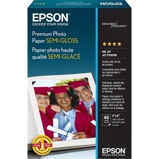 Epson Premium Photo Paper Semi-Gloss (4x6 Inches, 40 Sheets) (S041982)