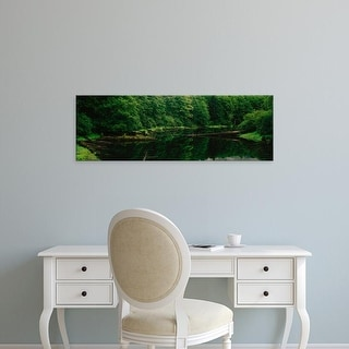 Easy Art Prints Panoramic Images's 'Creek in a forest, Terrace, British Columbia, Canada' Premium Canvas Art