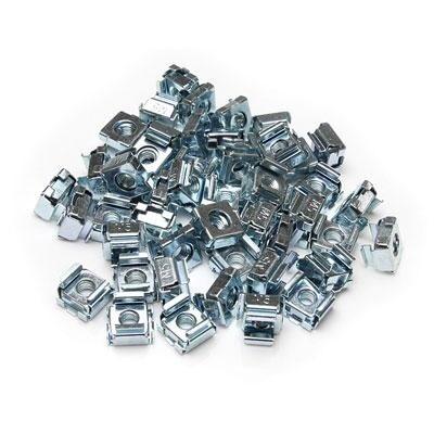 Startech 50 Pkg M5 Cage Nuts For Server Rack Cabinets - M5 Cage Nuts - Rack Cage Nuts - Cage Nuts