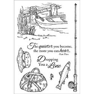 "Fishing Favorites - Inky Antics Clear Stamp Set 6""X4"""