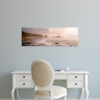 Easy Art Prints Panoramic Images's 'Ocean, Ecola State Park, Cannon Beach, Clatsop County, Oregon' Canvas Art
