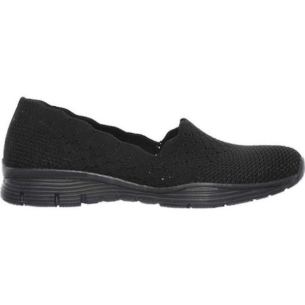 Shop Skechers Women's Seager Stat Slip On Shoe BlackBlack