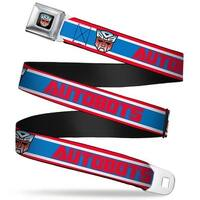 Transformers Autobot Logo Full Color Black Blue Red Fade Autobots Logo Seatbelt Belt