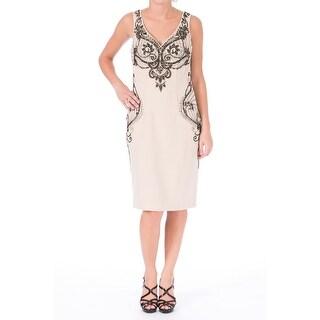 Sue Wong Womens Embellished Sleeveless Cocktail Dress - 6