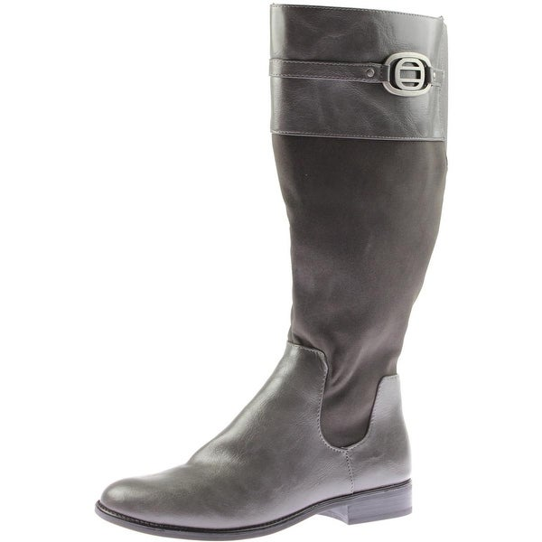 LifeStride Womens Ravish Riding Boots Wide Calf Faux Leather