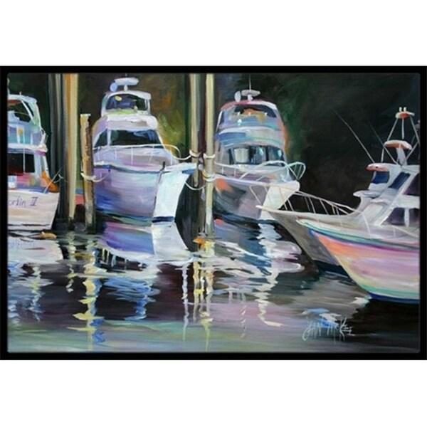 Carolines Treasures JMK1048MAT Deep Sea Fishing Boats Indoor & Outdoor Mat 18 x 27 in.
