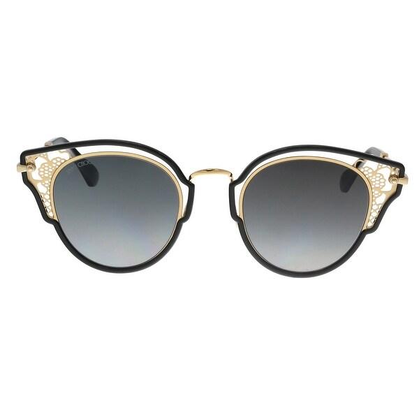 8599bcb3f6 Shop Jimmy Choo DHELIA/S 2M2 Black Gold Cateye Sunglasses - no size ...