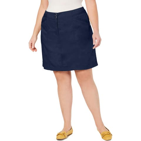 Karen Scott Womens Plus Skort Cotton Blend Above Knee