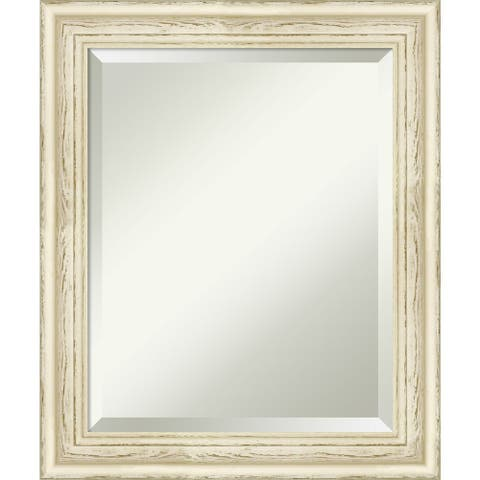 Bathroom Mirror Medium, Country Whitewash