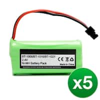 Replacement For Uniden BT1021 Cordless Phone Battery (700mAh, 2.4V, Ni-MH) - 5 Pack
