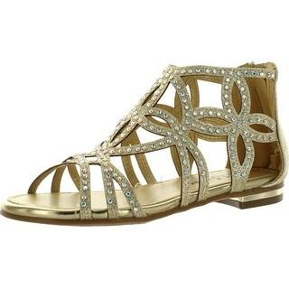 Forever Tory63 Kids Bling Rhinestone Four-Leaf Clover Cut Out Strap Gladiator Dress Sandal Shoes