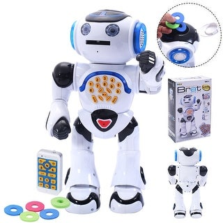 Costway 1018A Infrared RC Robot Intelligent Sing Dance Read Story Remote Control Toy