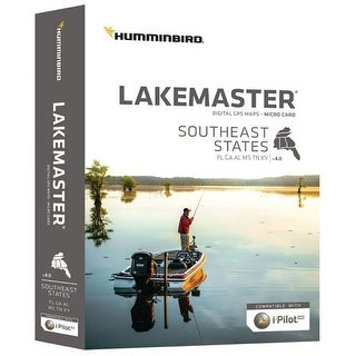 Humminbird LakeMaster Southeast States GPS Maps 600023-6 with i-Pilot Compatibility